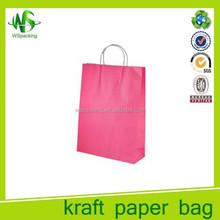 Popular customed logo plain craft shopping bags hot sale