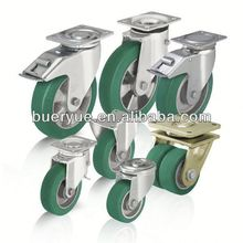 Hot Sale ISO9001 Certificated Long Working Life casters polyurethane industrial wheels