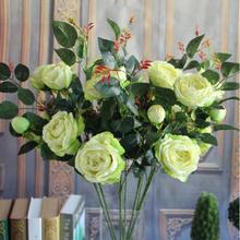 GNW FL-RS86-3-8 artificial indoor green color desert rose plants for sale