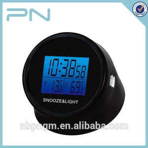 caliente venta ronda de retroiluminación de led digital 12v coche reloj