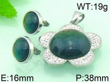 Dark Green Opal Gemstone Jewelry Set Wholesale Fashion Jewelry Set