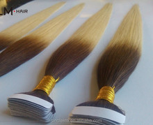 Alibaba Hot 100% European Remy Tape Hair Weft Pu Tape Hair Weft 5a Human Hair Weave Color Chart Extension