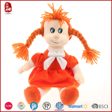 This year hot selling lovely plush dolls for girls orange and blue China