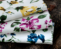 Peach skin 100% polyester fabric manufacturer, disperse printing fabric in rolls