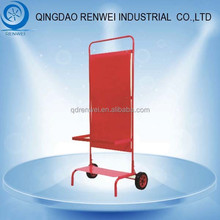 China Made Platform Triple Fire Extinguisher Trolleys and Stands