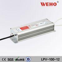 IP67 waterproof Constant voltage 100w ac 220v dc 12v constant voltage led driver