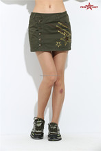 OEM latest design ladies' denim skirt