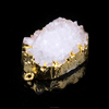 Druzy Pendant Nature Druzy Agate Dyed White Color with Gold Bezel Necklace Charms One Hook