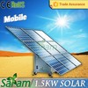All-in-one 1500w mobile solar power plant for sale