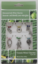 Tennis Wine Glass Markers