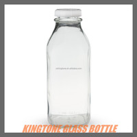 Antique look clear glass bottles/glass bottle 500ml for juice