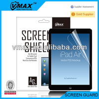 HD-Clear / Anti-Glare / Matte / Mirror / Diamond screen protector for Apple iPad air (iPad accessory)oem/odm with packing