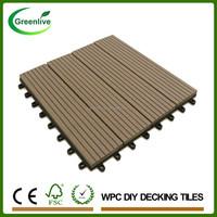 Garden Path Interlocked Outdoor Plastic Square Wood Deck Tiles