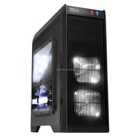 High end Full Tower Gaming Case with LED cooling Fan ,Watercooling, removable dustproof filter net -E600
