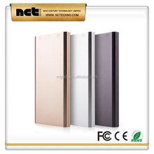 Popular best sell metal surface portable power bank logo