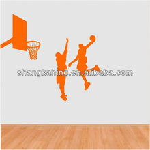 Vinyl Wall Sports Silhouettes New Design removable Wall basketball Decor Vinyl Decal Sticker