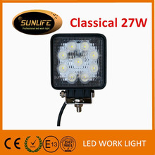 Best selling square 27W 4 inch led work light 1620LM led tractor working light led work lamp led headlight