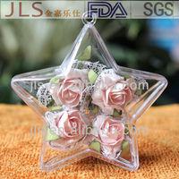 80mm Clear Acrylic Star Ornament