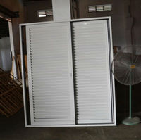White louvered doors