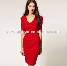 2012 fashion lady lapel shitsuke autumn clothing women's dress