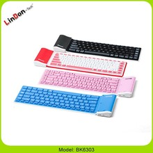 Promotional Gift Pretty Silicone Rubber Wireless Keyboard, Soft Keyboard