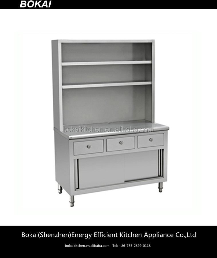 Stainless Steel Workbench With Drawer And Overshelves