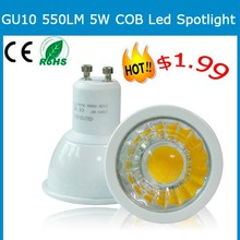1.99 dollar bottom price hot sale 5w gu10 led lamp/gu10 led 5w/led bulb gu10 epistar led spot gu10 220v halogen lamp replacement