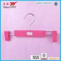 colorful rubber coated deluxe pant hanger of china
