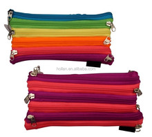 back to school color pencil case with zipper
