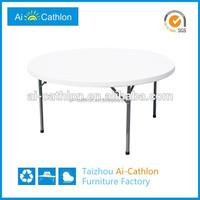 Durable short leg folding dining table and chairs