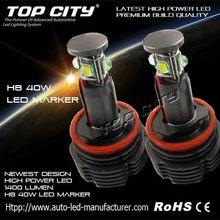 Best Price High Powerful 40Watt H8 LED Marker Halo Ring Lights