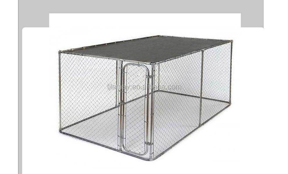 Hot sale7.5x13x6ft high quality large outdoor chain link metal dog house