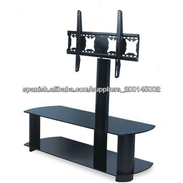 Giratoria soporte de suelo moderno soporte de tv de - Mesas para televisores plasma ...