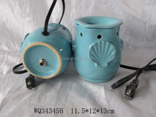 Electric ceramic scented lamp and candle warmer with owl shape