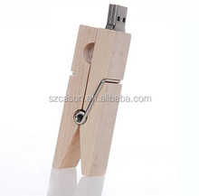 new products 2016 wholesale alibaba gadget customized logo for Wood clip usb flash driver