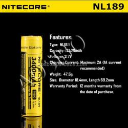 Nitecore TM series TM11 TM15 TM16 NITECORE NL189 3400mAh High Capacity 18650 Rechargeable Battery