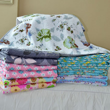 Wholesale Cotton Printed Baby Quilt /bed sheets quilt with high quality