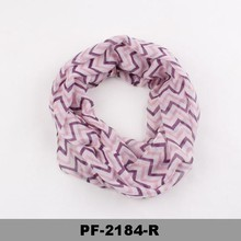 Fashion scarf with many colors Jersey chevron infinity single jersey scarf