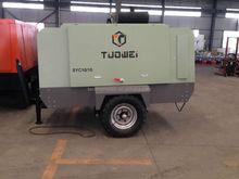 Portable diesel engine screw air compressor with jack hammer