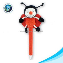 Educational red cute kids toy school plush stuffed pen toy soft bee plush stuffed toy