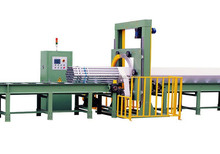 Full-Automatic Steel Buddle Stretch Film Wrapping Machine,The film Cutted Automatically