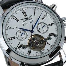Jargar Men Gent White Tourbillon Date Classic Mechanical Watch WM180
