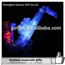 wholesale promotional party led flashing saxophone plastic whistle