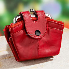 Multifunctional coin purse with metal frame,Sheepskin purse