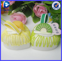 New Cool Pomegranate flowers Food shaped Plastic keychains