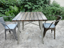 Hot sale vintage restaurant tables and chairs made in China