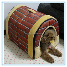Cute Warming Polyester Fabric Pet House Dog Cage