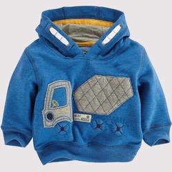 MS66459C embroidery car prints kids hoodies coats boys children's clothes