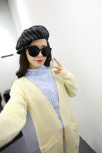 HFR-TN02 latest Spring woman clothing knitted cardigan dress woman2015