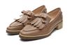 2015 women flat shoes tassel stylish casual loafers leather boat shoe